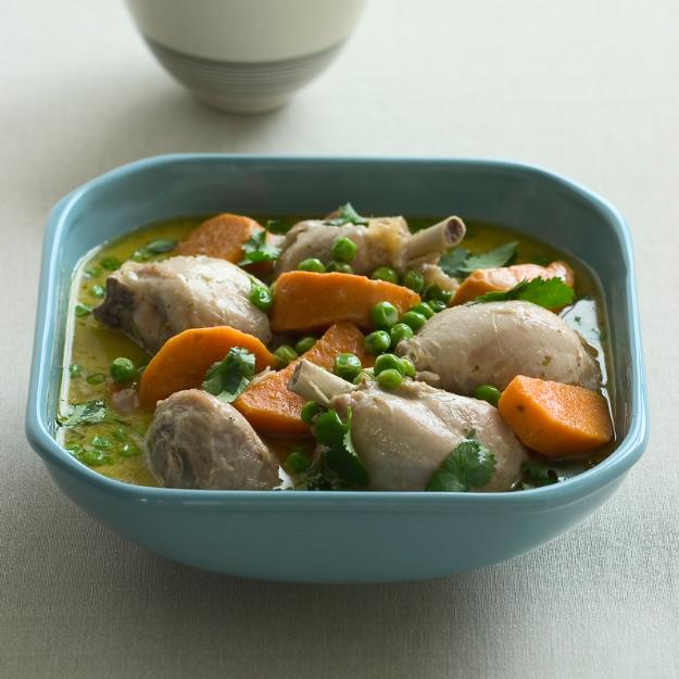Pollo al curry con camote