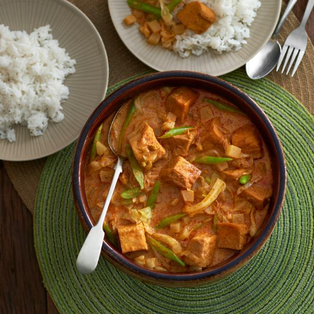 Curry de verduras y tofu