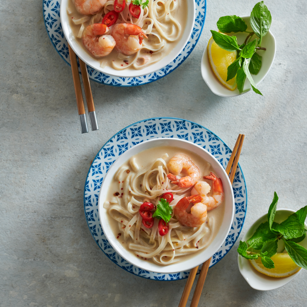 Coconut Shrimp Noodle Soup