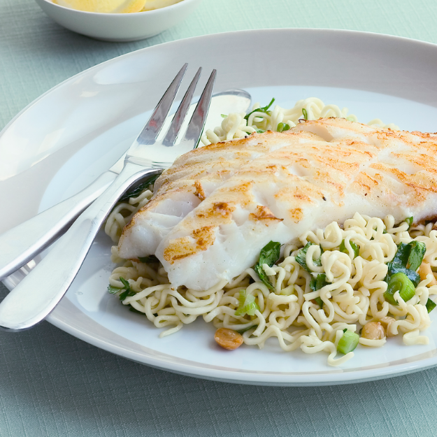 Teriyaki Perch Fillets and Noodles
