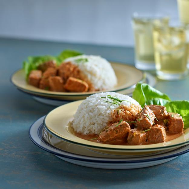 Manzo al curry rosso tailandese
